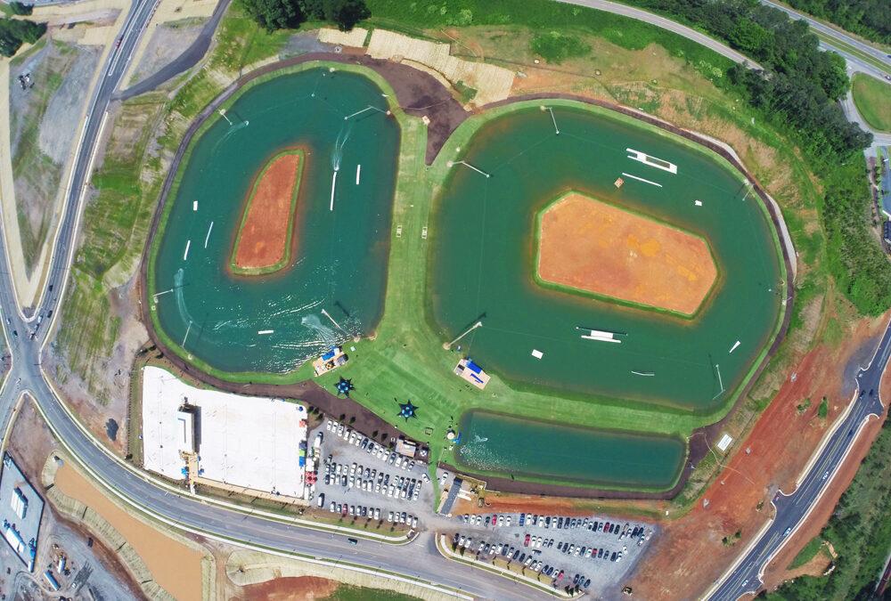 Watershed GeoKunststoff, Terminus Wake Park mit HydroTurf™