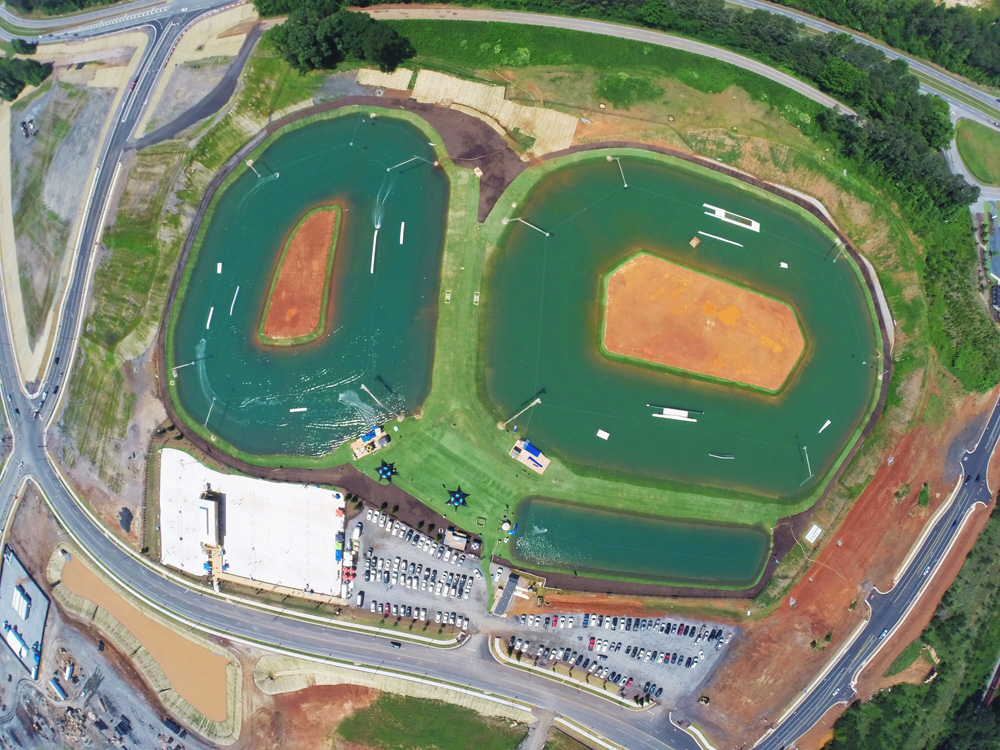Watershed Geosynthetics HydroTurf® Revetment Technology Reinvents Lake Banks at Terminus Wake Park